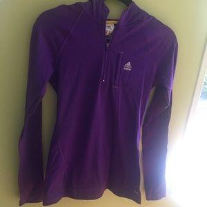 Adidas Purple Quarter Zip